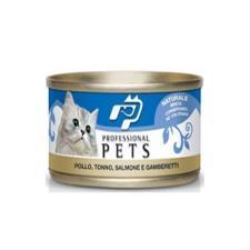 Mangime Gatto Professional Pets Pollo Tonno Salmone Gamberetti 70gr
